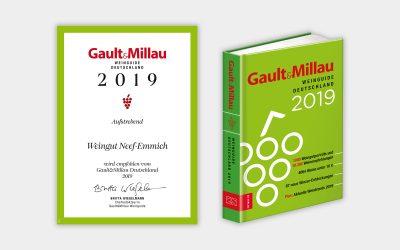 """Gault Millau 2019: 1 rote Traube """"Aufsteiger"""""""