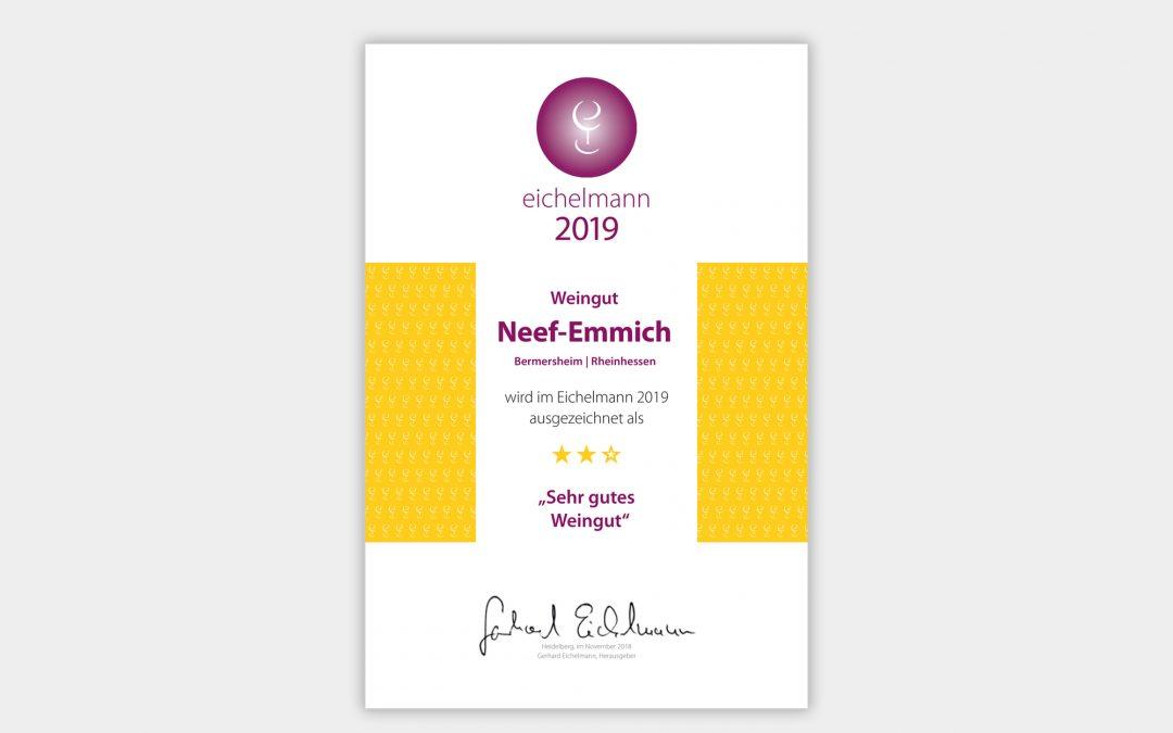 """Gerhard Eichelmann 2019: ★★☆ """"sehr gutes Weingut"""""""