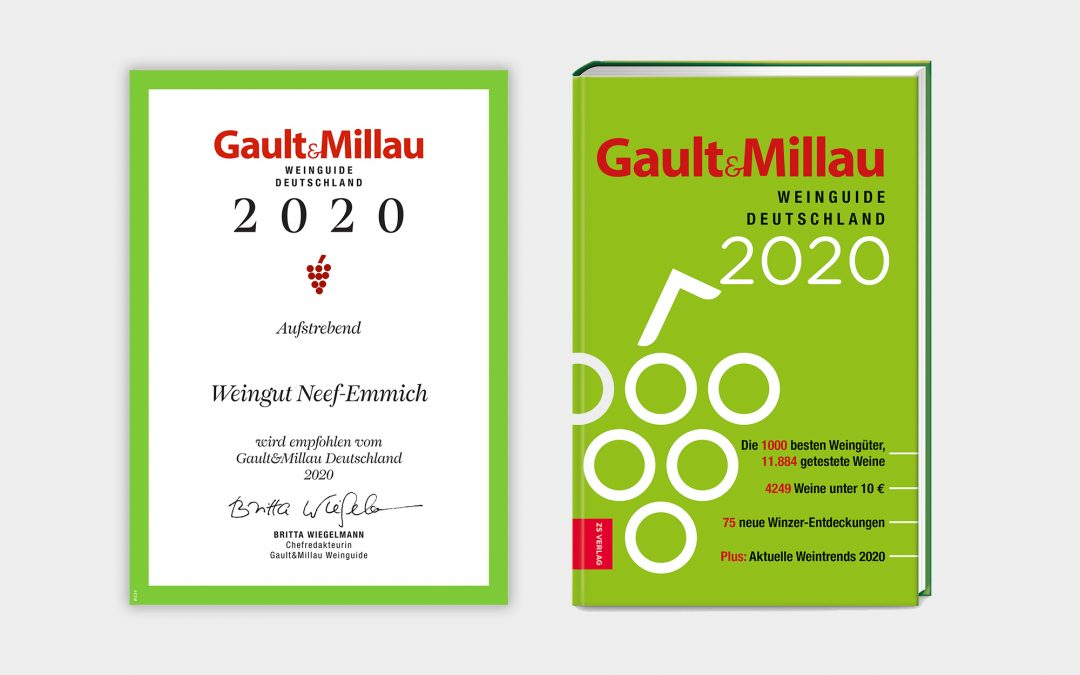 """Gault Millau 2020: 1 Rote Traube """"Aufsteiger"""""""