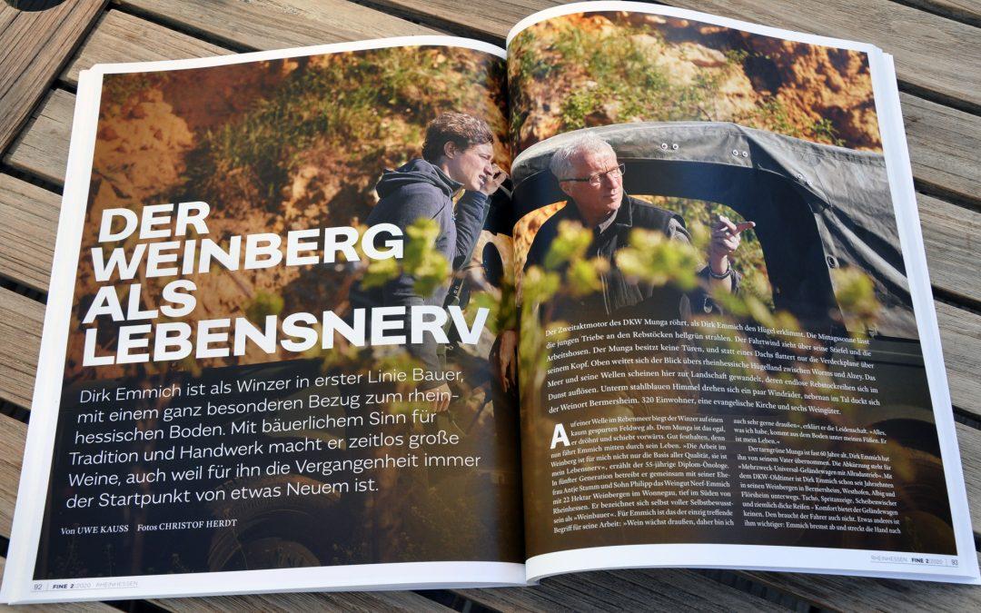 """Zu lesen in """"FINE – das Weinmagazin"""": Der Weinberg als Lebensnerv"""